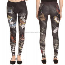 custom sublimation digital print high waist leggings women's compression leggings tights