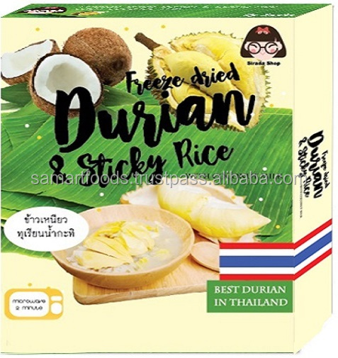 Instant Sticky Rice and Durian with Coconut Milk