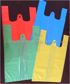 Best selling customized size T-shirt Plastic Shopping Bags with colour printing
