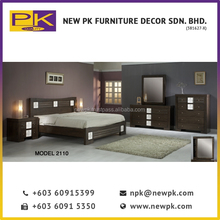Best Quality NPK 2110 Vintage Baroque Style Bedroom Wooden Furniture Set in Brown Bedroom Furniture Malaysia