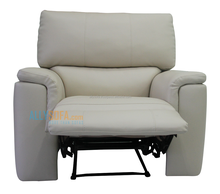 Single Recliner Glider Chair 100% Black & Cream PVC with Modern Motion Furniture Design 0030300714