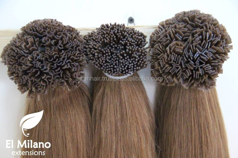 100% Natural Keratin - tipped Human Hair Extensions