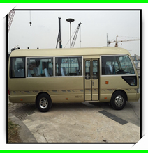 Used japan Toyota coaster bus for sale diesel engine left hand drive mini school bus city bus