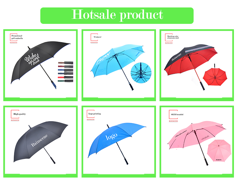 G27-08 quality china umbrella factory printing custom logo promotional windproof golf umbrella