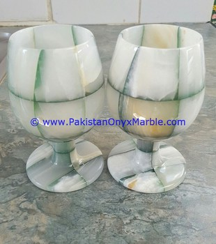 FINE QUALITY ONYX PATCH WINE GLASSES & GOBLETS
