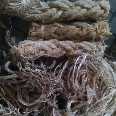 Mixed PP Scrap (loose) - used PP ropes collected from marine, fishing and oil industry.