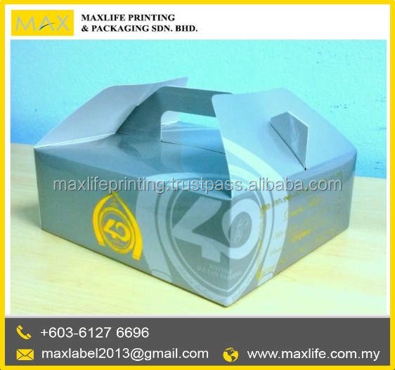 High Quality Custom Cardboard Box Full Cover Cake box packaging