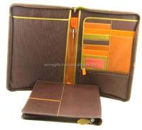 zipper expanding file folder / a5 leather conference folder factory price / expanding suspension file folder
