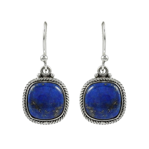 Glowing blue natural gemstone dangle earring 925 sterling silver jewelry gemstone earrings handmade