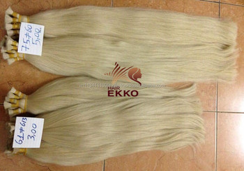 "May 2017 EKKO Wholesaler color hair Slavic color chart new version Russian hair in bundles natural virgin hair 22"" 100g"