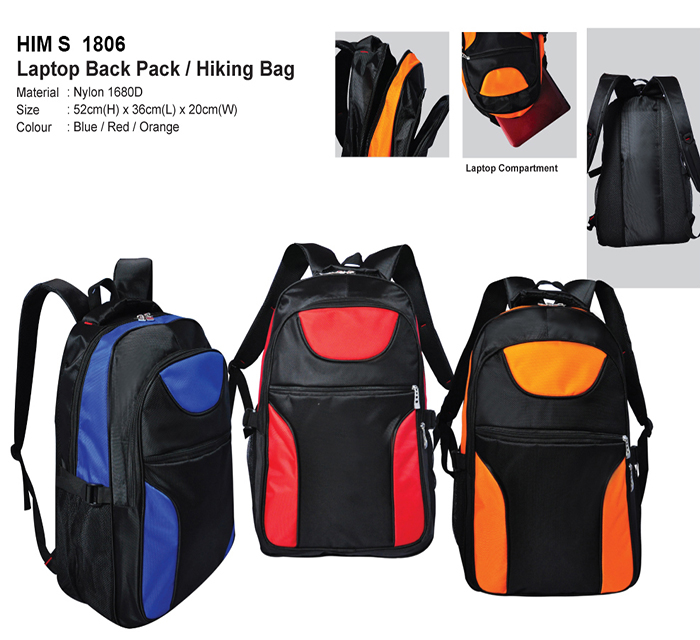 Laptop Back Pack/Hiking Bag