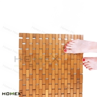Bamboo & Wooden Bath Mats/ Folding non-slip bathroom floor mat /HOMEX-BSCI_FSC