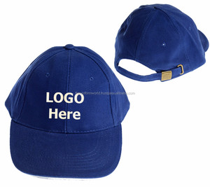 Hot Sale Baseball Caps Hat Blank Plain Royal Blue Color with Buckle
