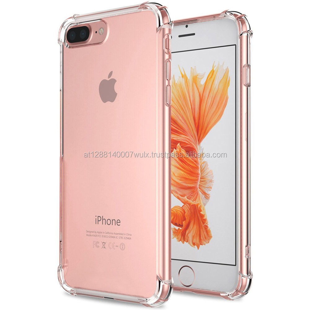 For iPhone 6 6s 7 7 8 Plus x Case Cover Crystal Clear Shock Absorption Technology Bumper Soft TPU Cover Case