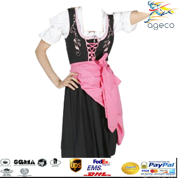 DIRNDL/New Style German,Spring-fest,Trachten,Oktoberfest,Halloween,Dirndl,3-pcs pink dress