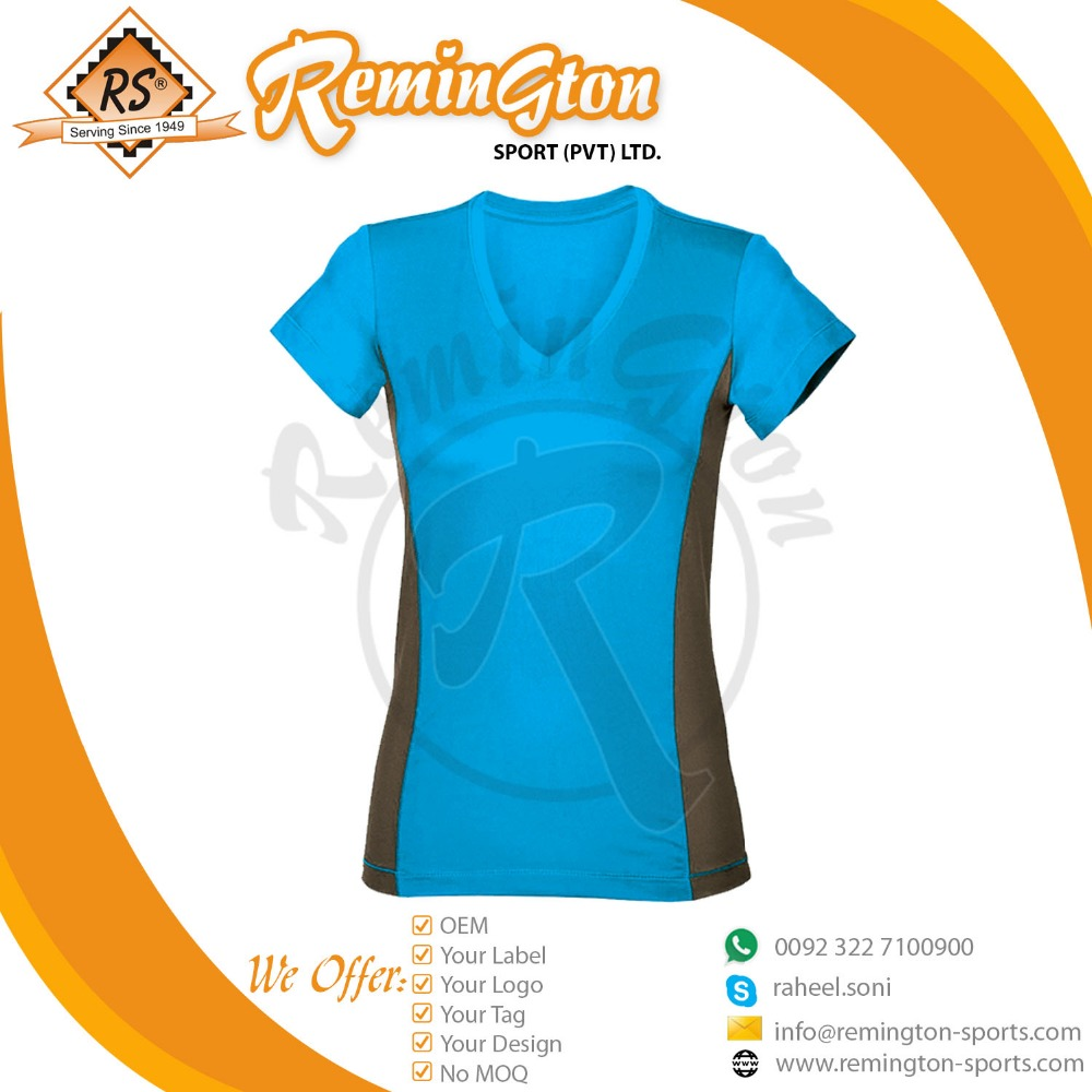 Customized women Fitness half Sleeve Shirt Quick Dry base layer Stretchable T Shirt