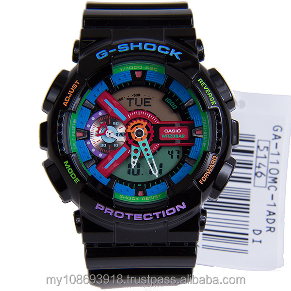 GA-110MC-1A Black Crazy Color Resin Strap Watch
