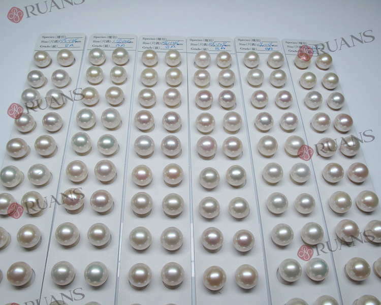 Cheap 11.5mm Defect Freshwater Cultured Pearl Pairs white
