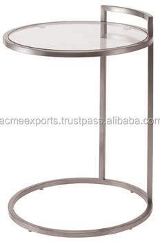 Contemporary Stainless steel tea table | Glass Top Coffee Table
