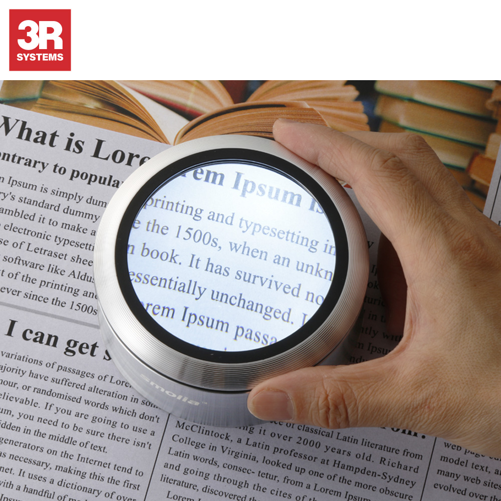 Variable magnification and hot-selling mothers day gifts magnifying glass for reading , high-class aluminium body