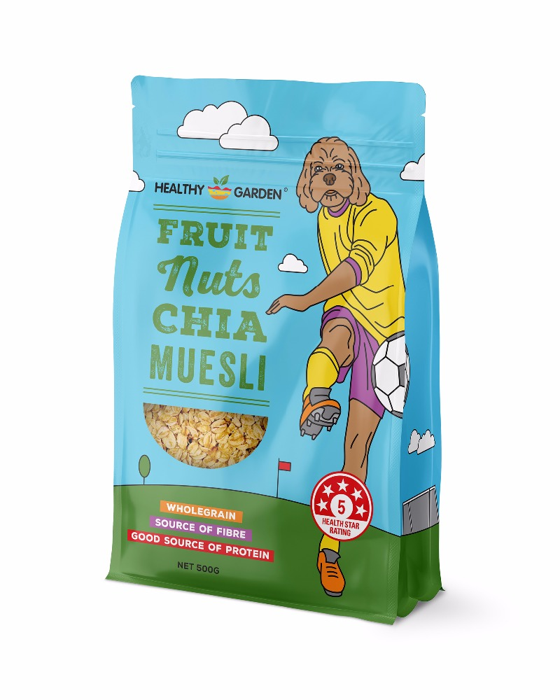 Australia Cereal Healthy Garden Fruit Nuts & Chia Muesli (500g)