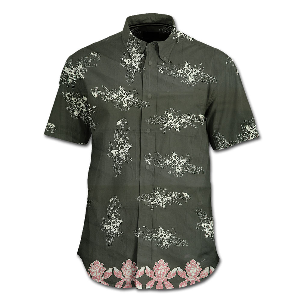 Best Seller Stamped Batik Shirts Indonesia Mangrove and Black Orchid Pattern