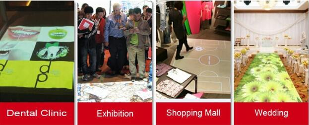 Magic interactive floor/wall/interactive projector for advertising,event,shopping mall,children games