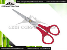professional plastic handle titanium coating hair cutting barber scissors