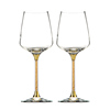 High Quality Lead-free Crystal Wedding Wine Glass with Golden Flakes