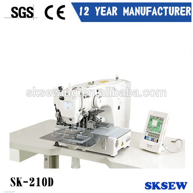 210D Computer controlled direct drive pattern sewing machine