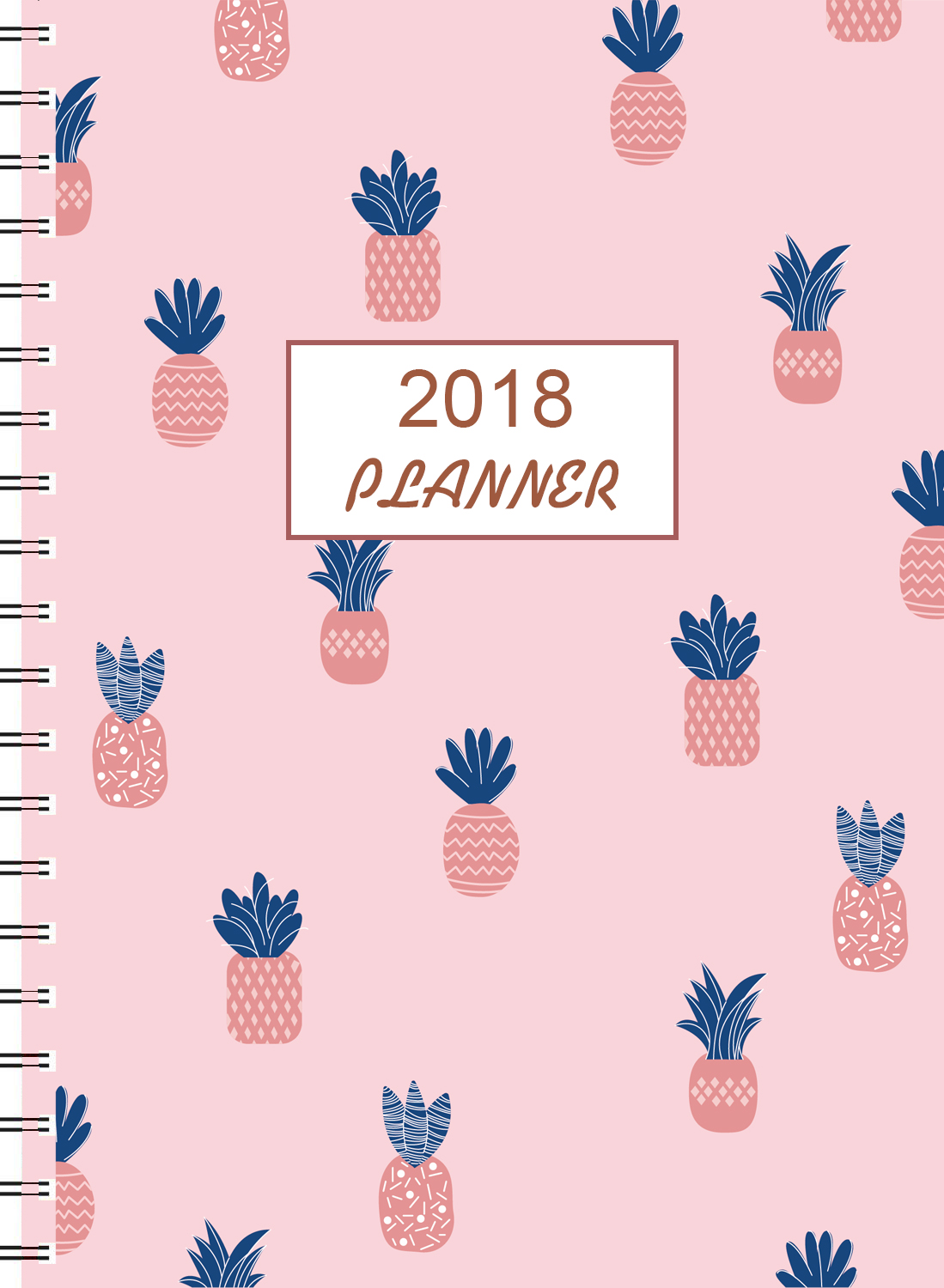 Cheap Price Pink Hardcover Custom Design Print Daily Weekly Monthly Personal Planner
