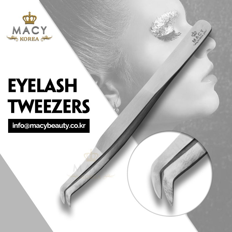 Top quality tweezers for eyelash extension passivated type