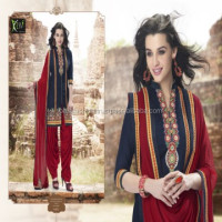 Fashionable Beautiful Panjabi Style Designer Looking Latest Patiala Suits