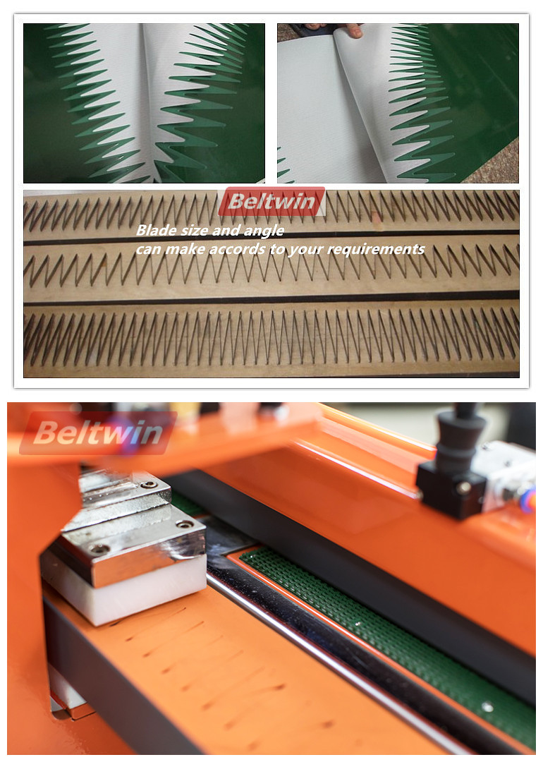 Beltwin PVC/PU belt pneumatic move smooth double fingers half automatic finger punching machine with no width limited