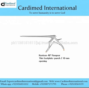 Kerrison 40 degree Rongeur Thin footplate punch 10 mm opening / Surgical Instrument / Sialkot Pakistan