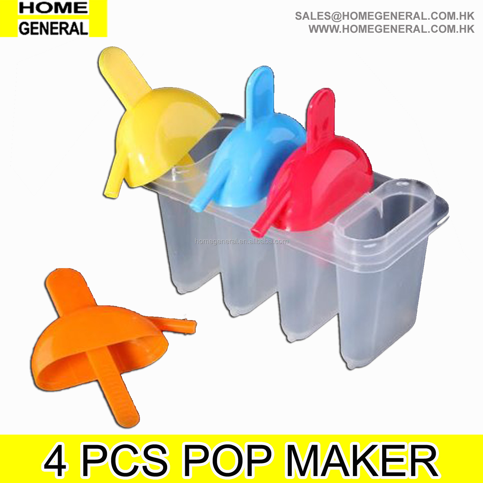 PARTY GENERAL CUSTOM PLASTIC POPSICLE ICE LOLLY POP MAKER MOLDS
