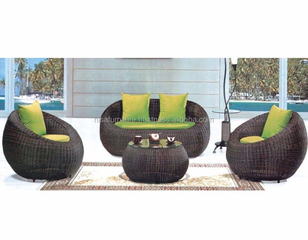 Ball Sofa set Rattan Wicker egg chair Indoor Outdoor Furniture
