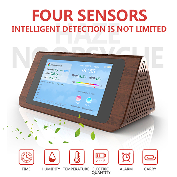 LCD Digital PM2.5 Air Quality Detector Sensor Module PM1.0 PM10 Sensor Temperature Humidity Measurement Environmental Monitorin