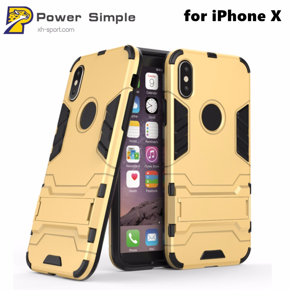 Hybrid Dual Layer Full Protection Phone Case for iPhone X