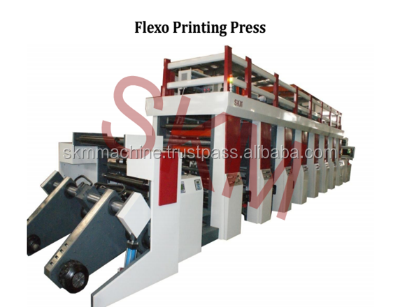 SKM Automatic flexo printing machine with water ink