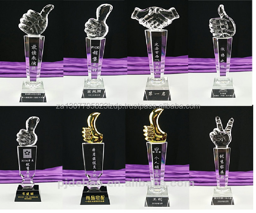 wholesale crystal trophy,handmade glass trophy awards