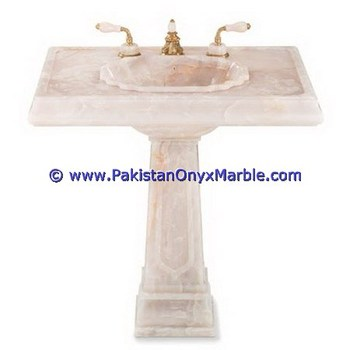BEST SELLING ONYX PEDESTALS SINKS BASINS WHITE ONYX