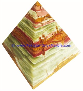 Home Decoration EXPORT QUALITY ONYX PYRAMIDS MULTI GREEN
