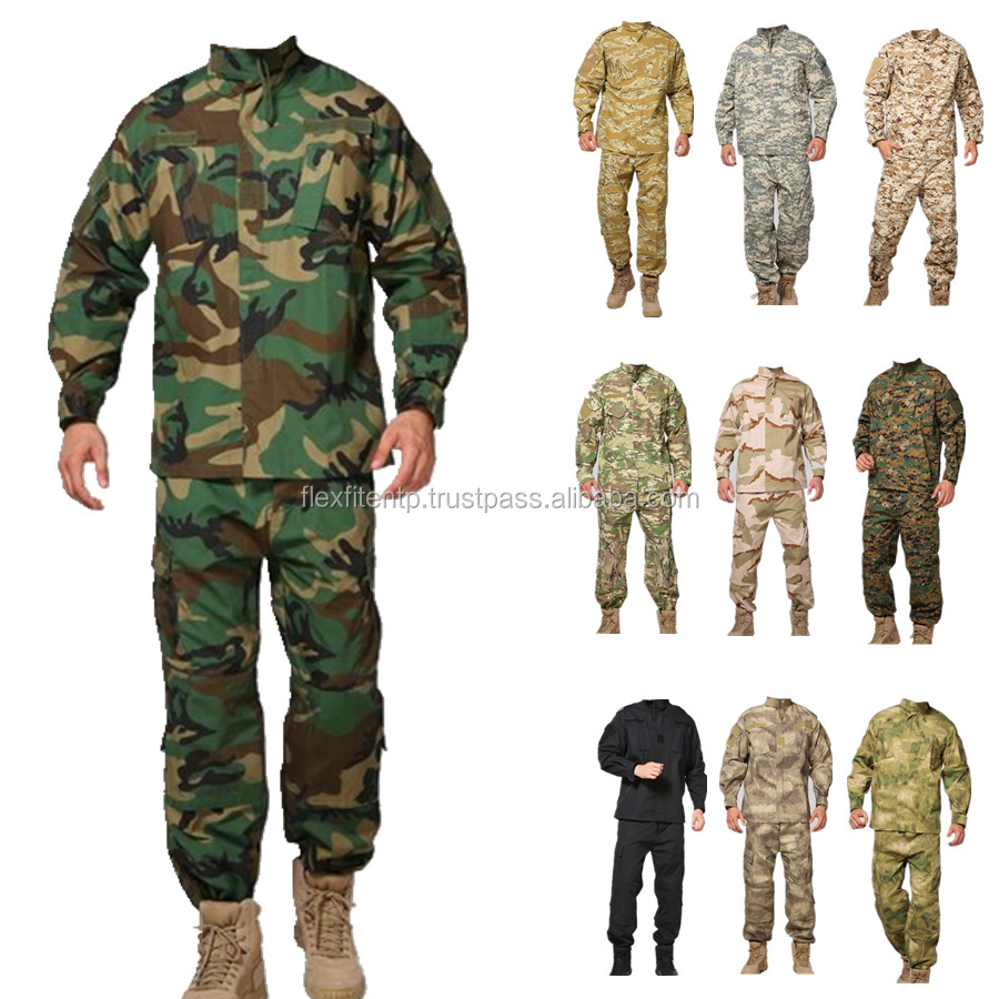 Tactical Combat Uniform Camouflage Hunting Suit Wargame Paintball Army Clothing
