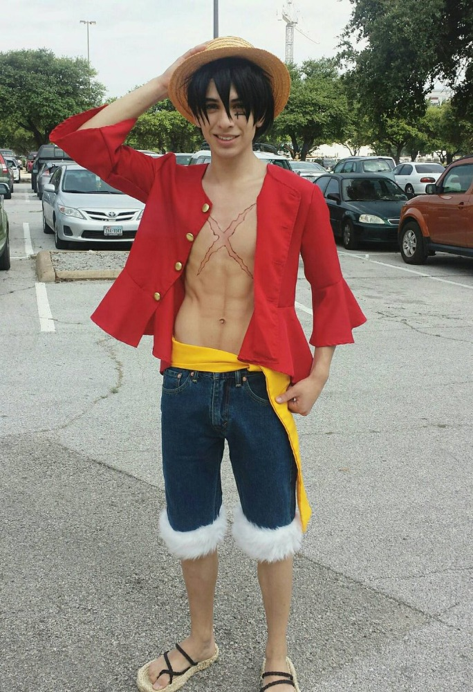 Attractive in-stock affordable nice popular luffy costume