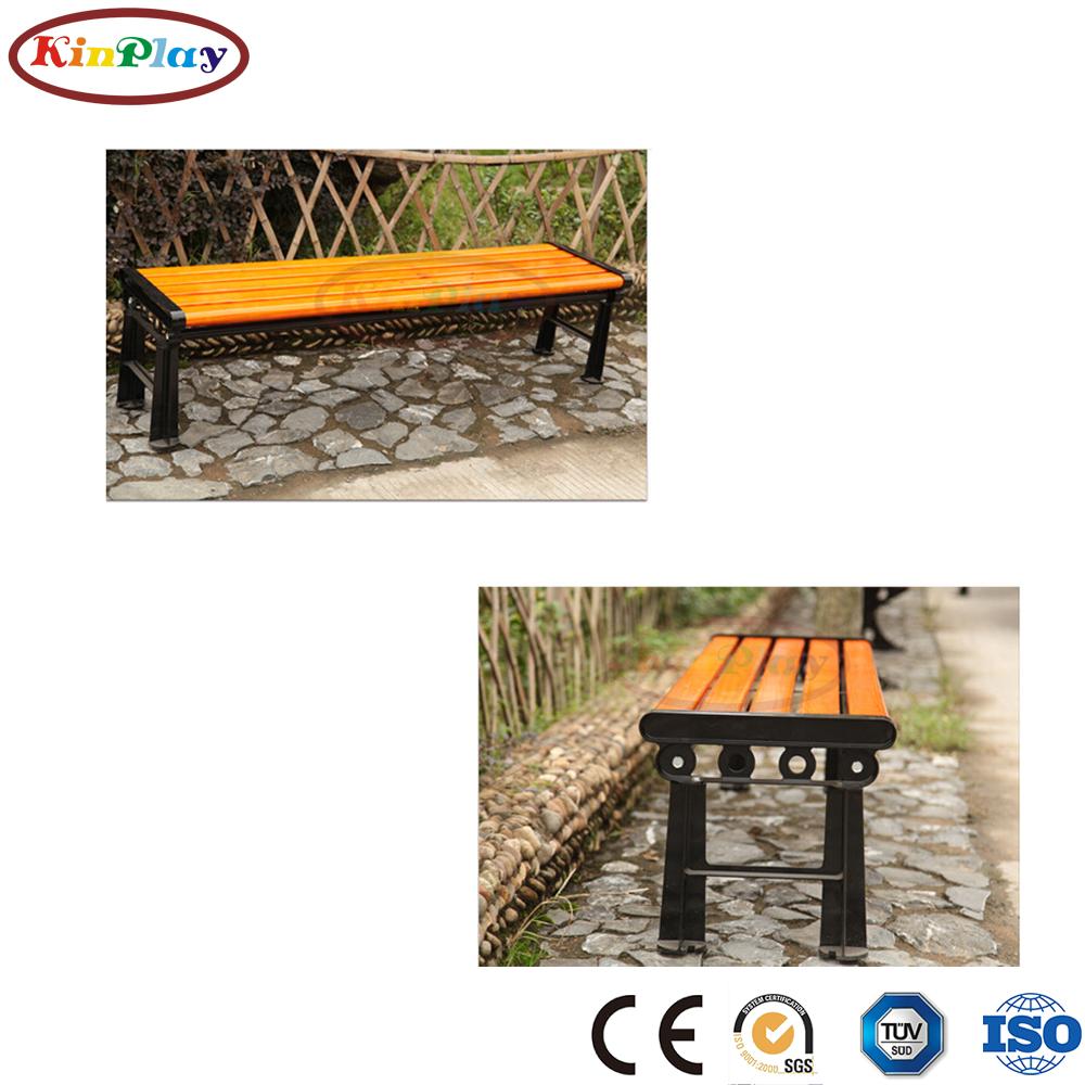 KINPLAY brand modern durable bench camping chair metal feet garden outdoor chair