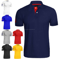 OEM cotton pique embroidery polo t shirt factory customized new design polo shirt