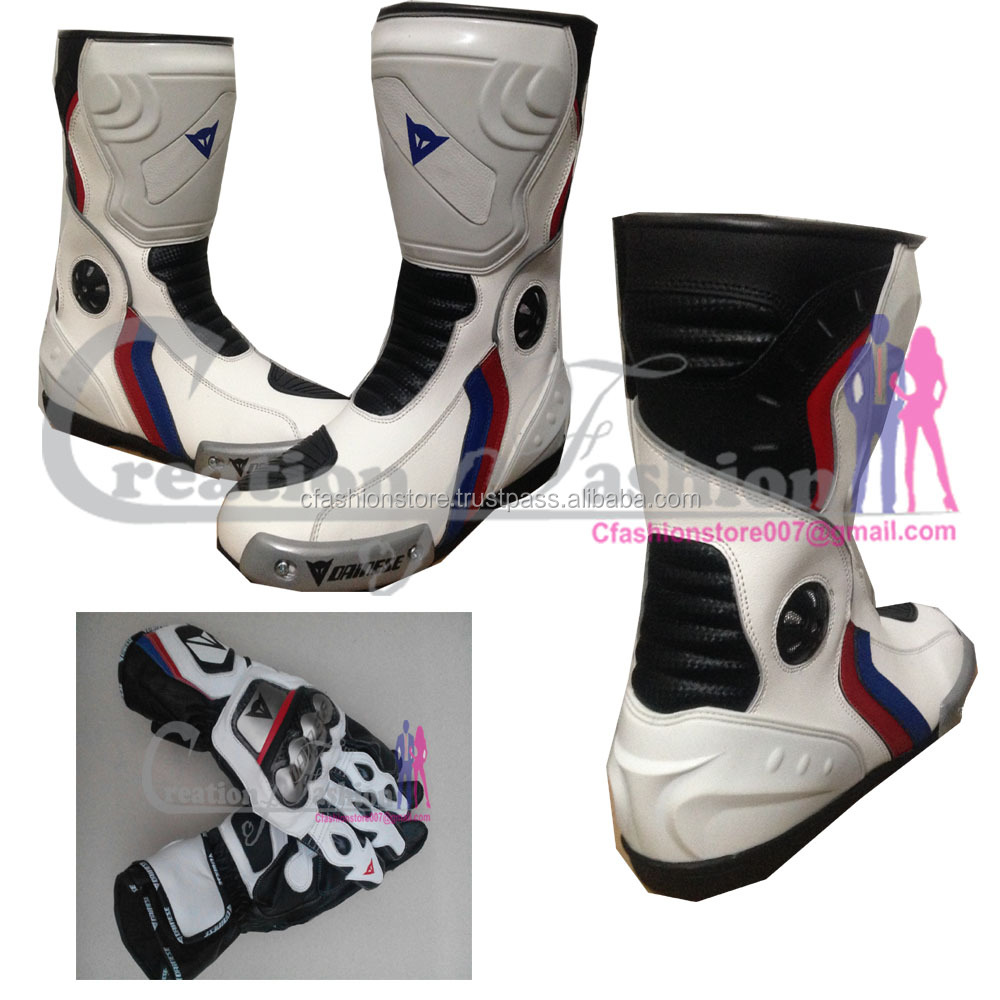 Parabolica Black Motorcycle/Bike/Motorbike Race/Racing Leather Boots