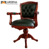 Wooden Desk Chair Coofice with Carved Jepara Furniture