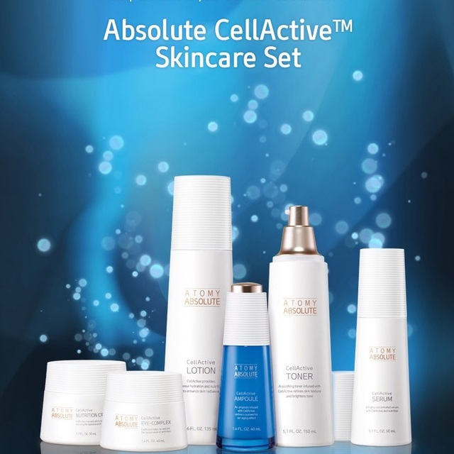 Absolute CellActive Skincare set ampoule serum lotion eye complex nutrition cream